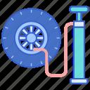 air, car, pump, tire icon