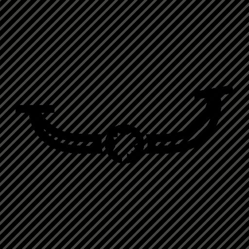 folding, gear, lever, motorbike, part, shift icon