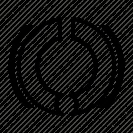brake, hub, motorbike, part, stop, wheel icon