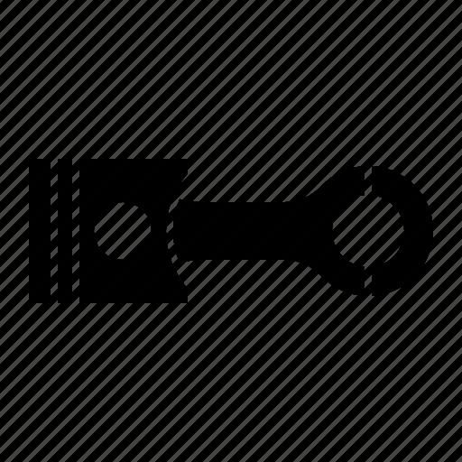 engine, motorbike part, piston icon