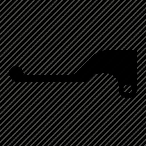 brake, clutch, folding, hand, lever, motorbike icon