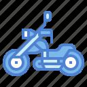 chopper, cruiser, motobike, motorcycle, vehicle
