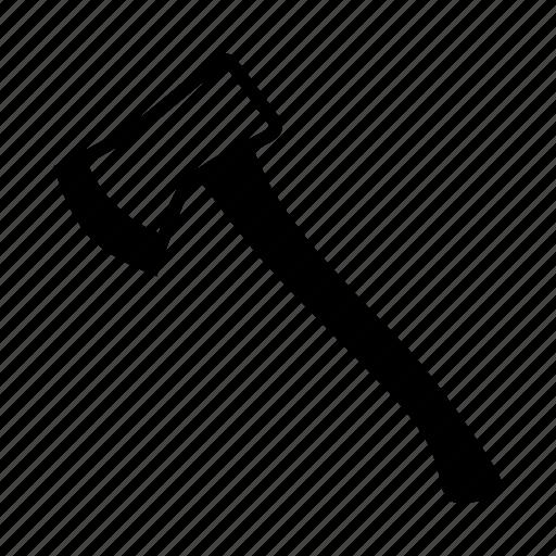 axe, fireman, mountain, outdoor icon