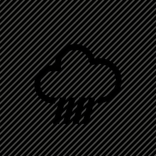 mountain, rain, storm, weather icon