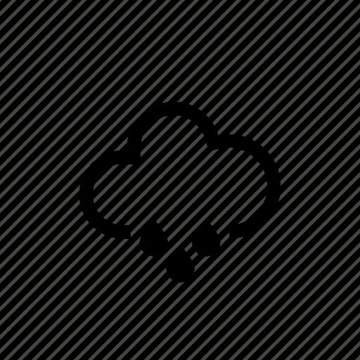 mountain, rain, shower, weather icon