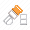 buckle, mount, mountaineering, equipment, outfit, staple icon