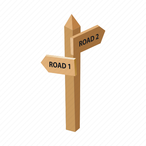 arrow, pointer, route, signpost icon