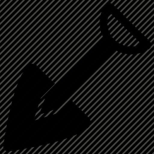 digging tool, gardening tool, shovel, spade, tool icon