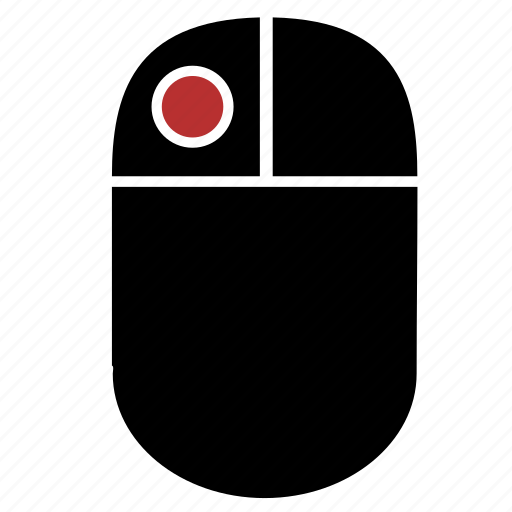 click, device, dot, left, mouse icon