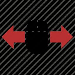 arrows, control, device, horizontal, mouse, move icon