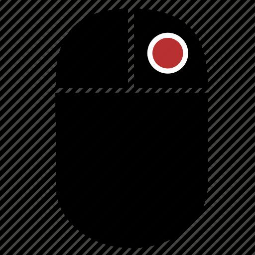 click, control, dot, mouse, right, single icon