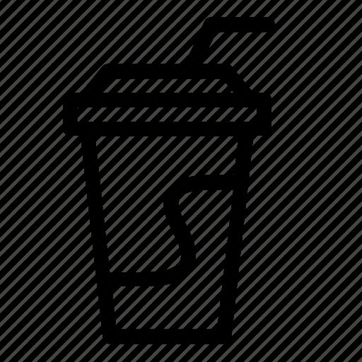 cinema, coke, cup, drink, movie, snack icon