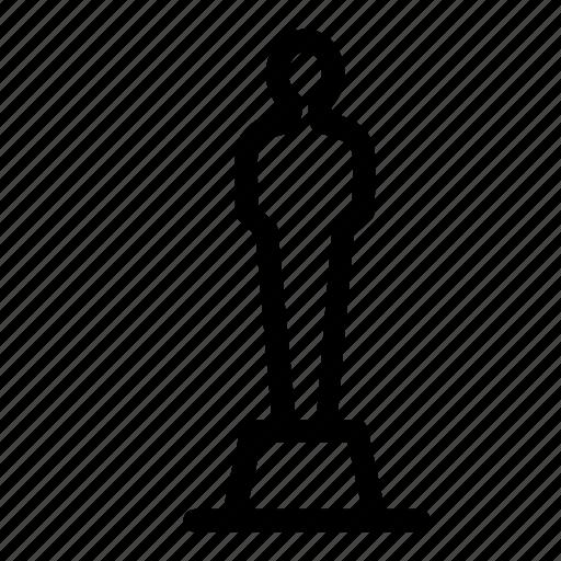 achievement, award, movie, oscar, prize icon