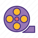 cinema, film, media, movie, roll, video icon