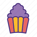 cinema, film, media, movie, popcorn, video icon