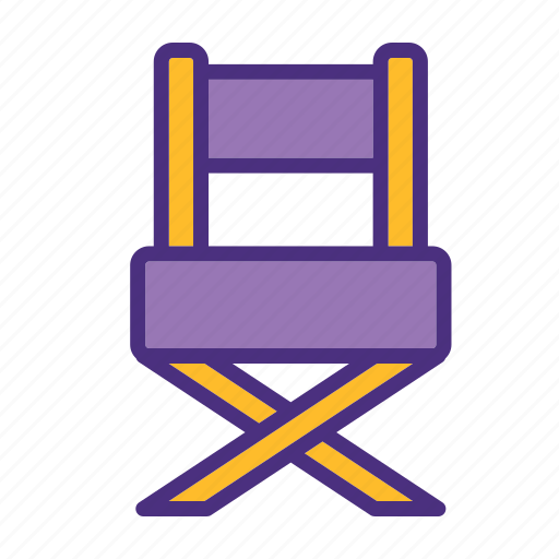 chair, cinema, film, media, movie, video icon