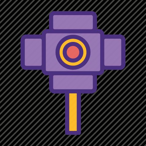cinema, film, media, movie, stage light, video icon