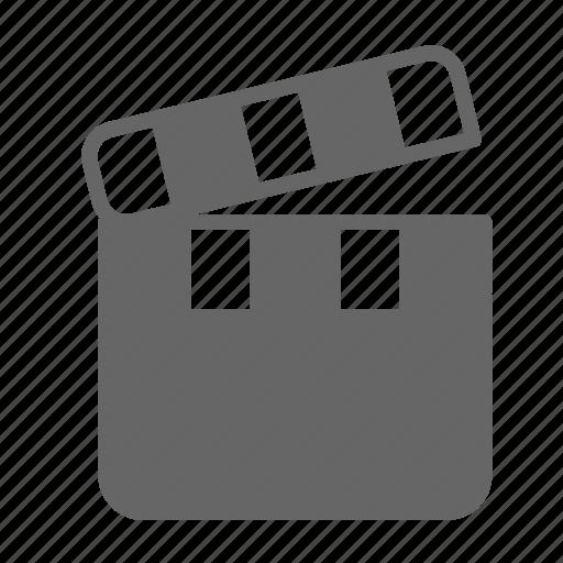 cinema, film, media, movie, slate, theater, video icon