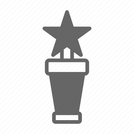 cinema, film, media, movie, reward, star, video icon