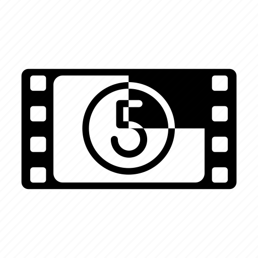 film countdown, film leader, film reel, frame, retro icon