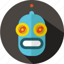 android, futuristic, movie, multimedia, retro, robot, sci-fi icon
