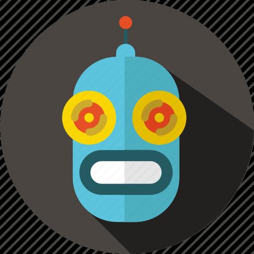 android, futuristic, movie, multimedia, retro, robot, sci-fi icon