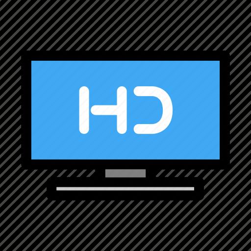 digital, format, hd, hd format, modern, screen, tv icon