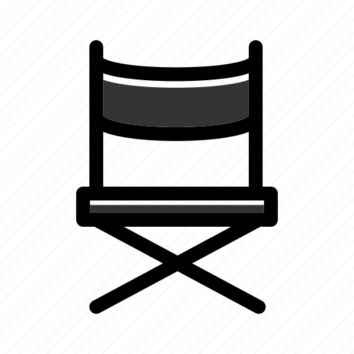 chair, director, director chair, filmmaker, movie, producer, seat icon