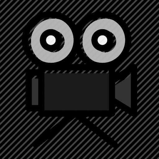 camera, equipment, film, film camera, industry, movie, retro icon