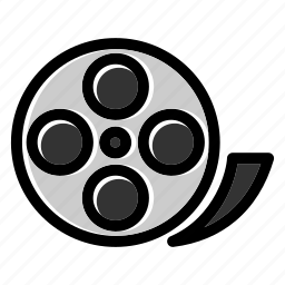 cinema, entertainment, film, film reel, filmstrip, movie, reel icon