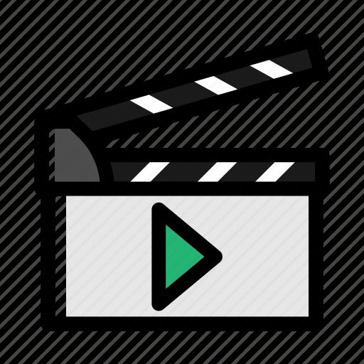 director, entertainment, film, film slate, industry, slate, studio icon