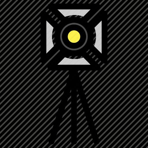 equipment, film set, light equipment, professional, spotlight, studio icon