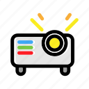 equipment, light, presentation, projector, video icon