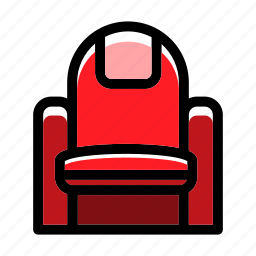 audience, chair, entertainment, movie, theatre seat icon