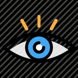 eye, see, view, vision, visual icon