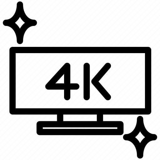 digital, display, format, screen, technology, uhd, uhd format icon