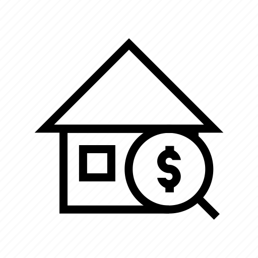 budget, dollar, home, house, price, search icon