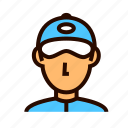courier, delivery, man, service, shipping icon