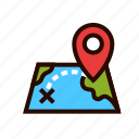 delivery, location, map, pin, route, shipping, tracking icon