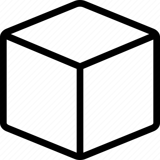 box, cardboard box, crate, cube, package, shipping box icon