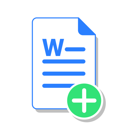 add, create, doc, docx, file, office, word icon