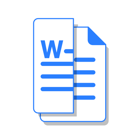 cut, doc, file, ms, office, word icon