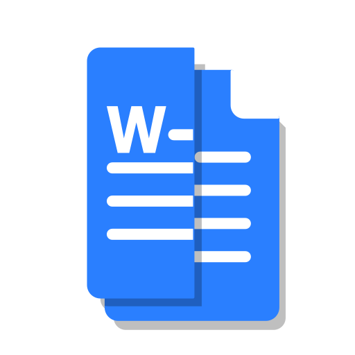 blue, cut, doc, file, office, word icon