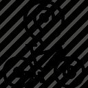 bike, location, marker, mountain, mtb, pin, yumminky icon