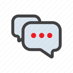 chat, more, sms, speach, talk icon