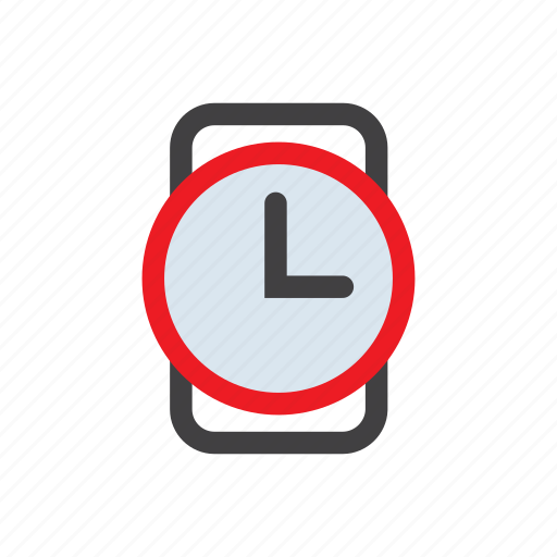 alarm, clock, timer, watch, wristwatch icon
