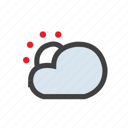 cloud, forecast, snow, sun, weather icon