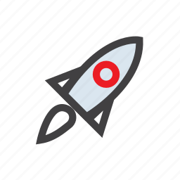 launch, rocket, science, space, startup icon