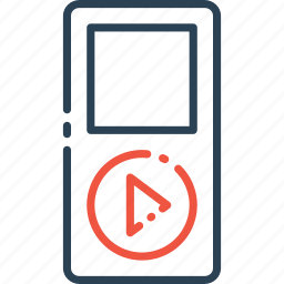 electronic, ipod, mp3player, multimedia, music, player icon