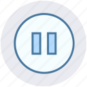 audio control, media button, media control, multimedia, pause icon
